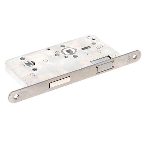 Afbeelding van WC slot  met magneet roestvaststaal voorplaat inclusief sluitplaat
