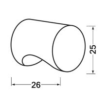 Afbeeldingen van Hermeta Cilinderknop 25x26mm m4 zwart 3732-70