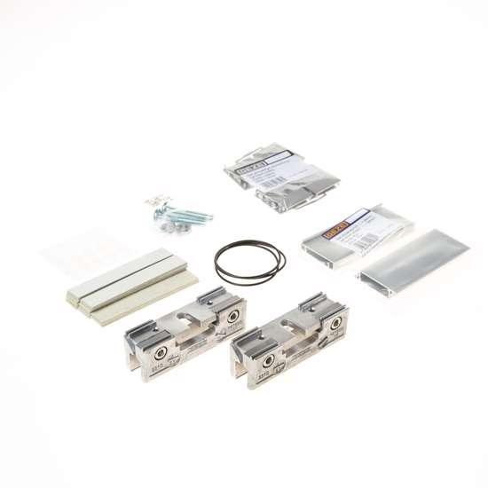 Afbeelding van Set glasklemplaten zilverkleur EV1 30mm, voor glazen deuren