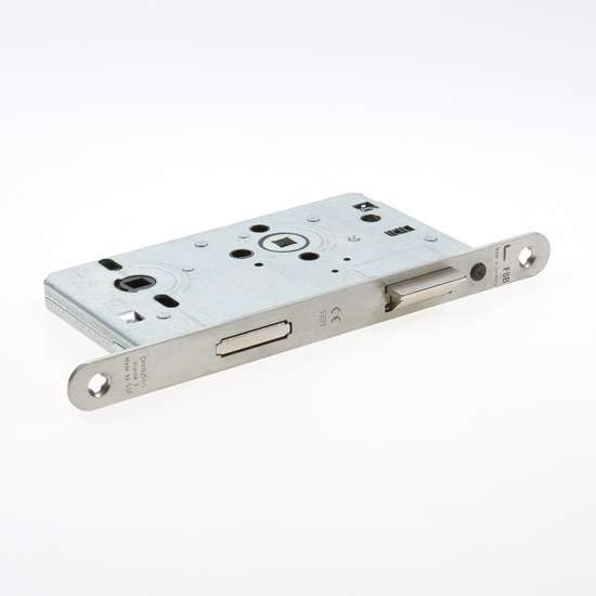 Afbeelding van FSB WC-slot roestvaststaal 8 x PC72mm voorplaat afgerond 20mm