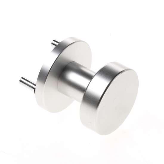 Afbeelding van Deurknop platmodel vast op rozet ASL aluminium F1