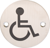 Afbeelding van Pictogram roestvaststaal bl.Ø76 invalidetoilet