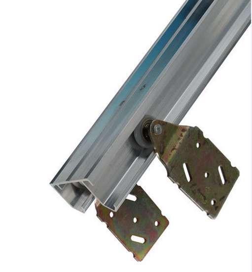 Afbeelding van Double Top compleet schuifdeurbeslag voor kast- en garderobe deuren kastdeur 45kg w18eu