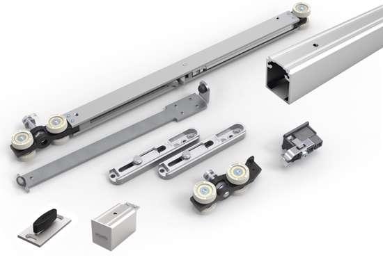 Afbeelding van Proslide complete kit, met rail van 2 mtr, manual fix, 1x standaard stop en 1x slow stop