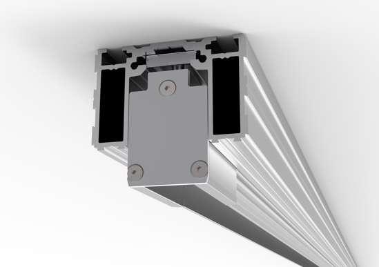 Afbeelding van Proslide onzichtbaar inbouwprofiel 3 meter inclusief 2x essi-module
