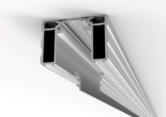 Afbeelding van Proslide onzichtbarr inbouwprofiel 2 meter inclusief 1x essi-module