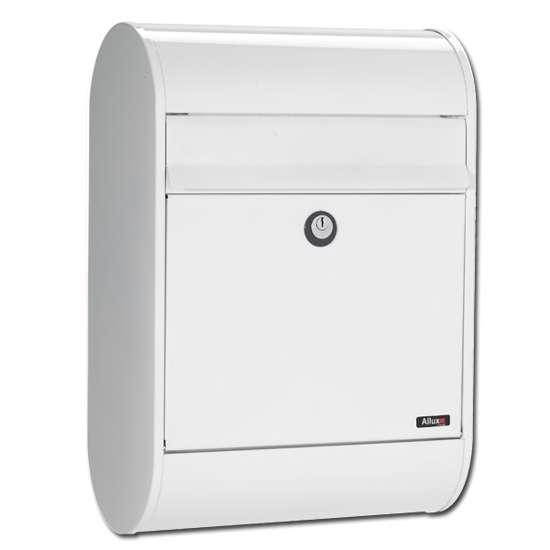 Afbeelding van Brievenbus Allux 5000 wit, een design brievenbus