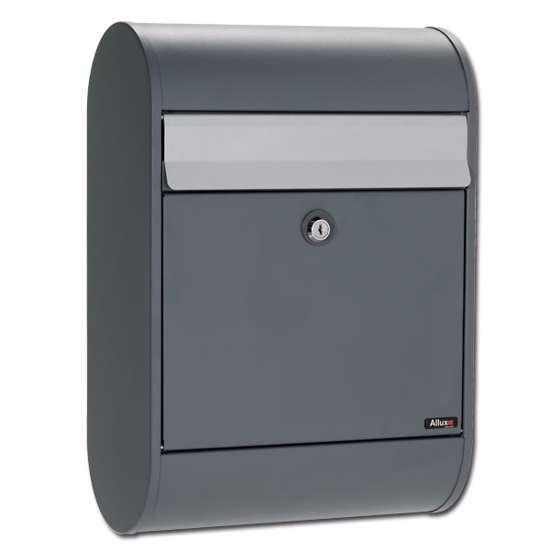 Afbeelding van Brievenbus Allux 5000 antraciet, een design brievenbus