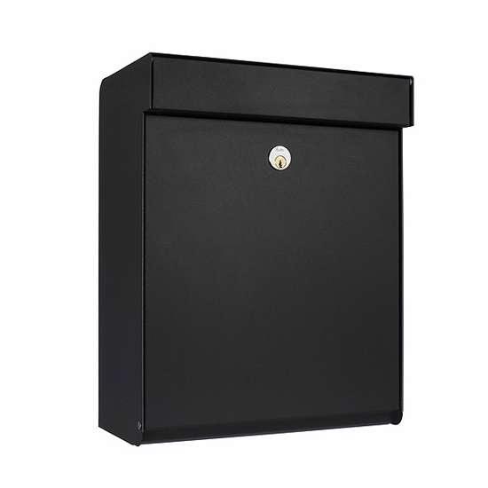 Afbeelding van Brievenbus Allux Grundform zwart, modern design, ruime brievenbus. Verkrijgbaar in 7 uitvoeringen.