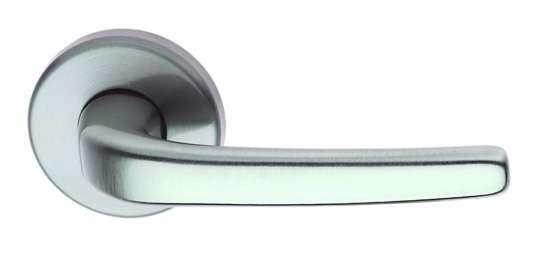Afbeelding van Deurkruk Apoll mat nikkel gelakt, krukstel op rond rozet 50mm