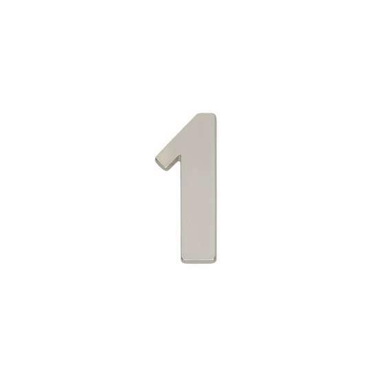 Afbeelding van Intersteel Huisnummer 1 nikkel mat