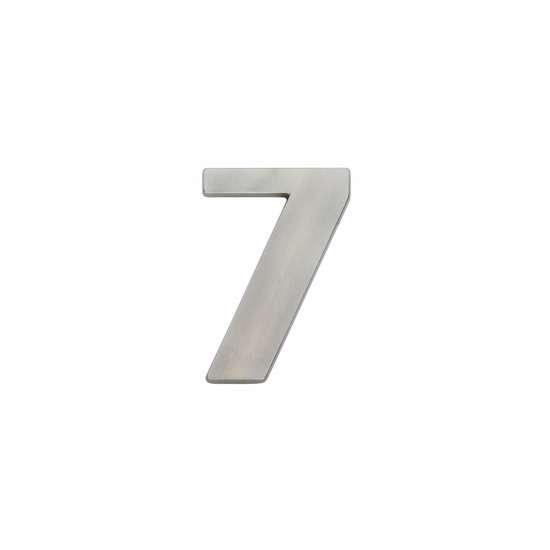 Afbeelding van Intersteel Huisnummer 7 nikkel mat