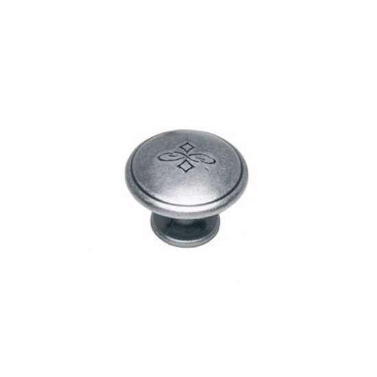 Afbeelding van Intersteel Meubelknop bloem ø 25 mm oud grijs