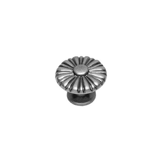 Afbeelding van Intersteel Meubelknop rond zon ø 30 mm zon oud grijs