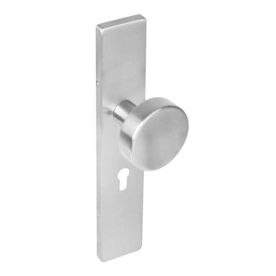 Afbeelding van Intersteel Knop rechthoekig schild profielcilindergat 55 mm roestvaststaal geborsteld