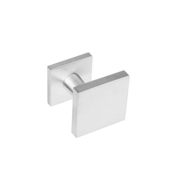 Afbeelding van Intersteel Voordeurknop vierkant verkropt roestvaststaal geborsteld