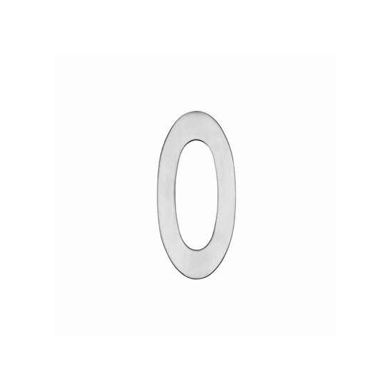 Afbeelding van Intersteel Huisnummer 0 150 mm roestvaststaal geborsteld