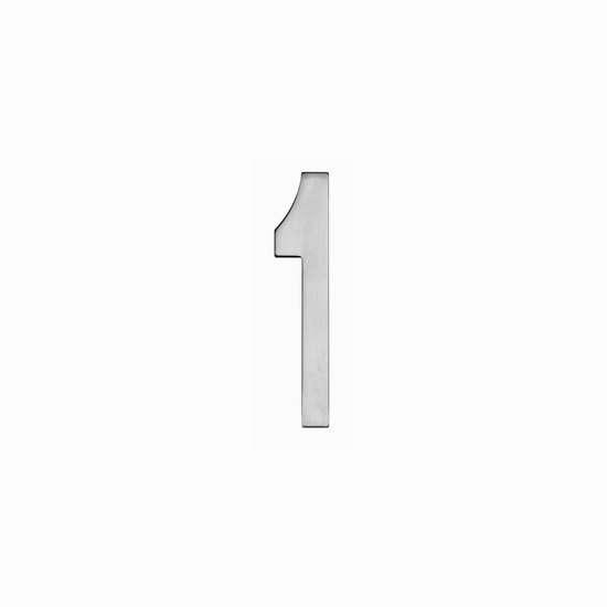 Afbeelding van Intersteel Huisnummer 1 150 mm roestvaststaal geborsteld