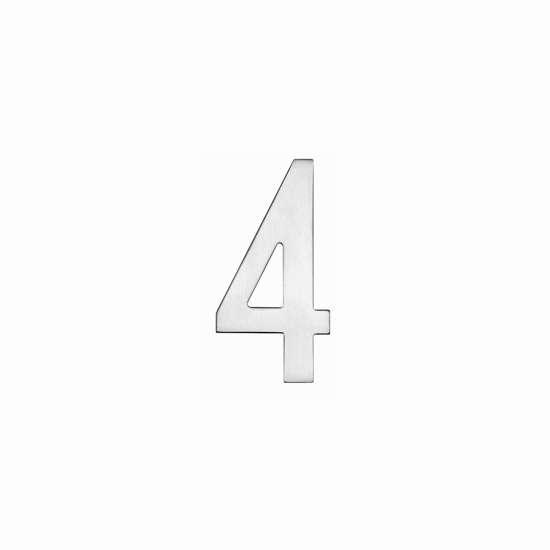 Afbeelding van Intersteel Huisnummer 4 150 mm roestvaststaal geborsteld