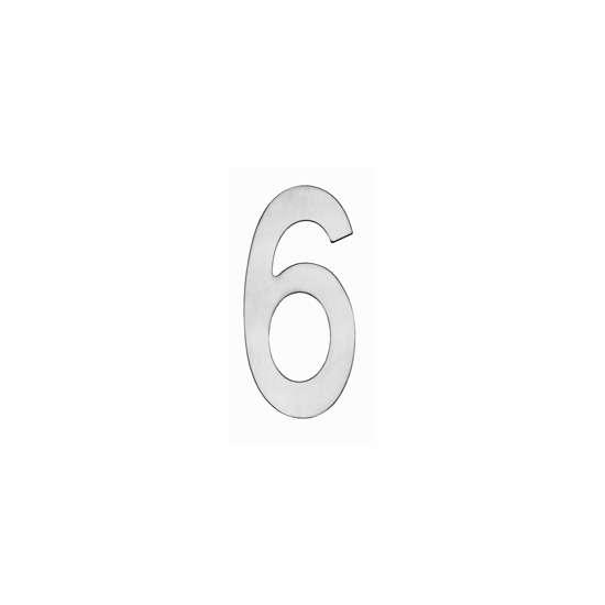 Afbeelding van Intersteel Huisnummer 6 150 mm roestvaststaal geborsteld