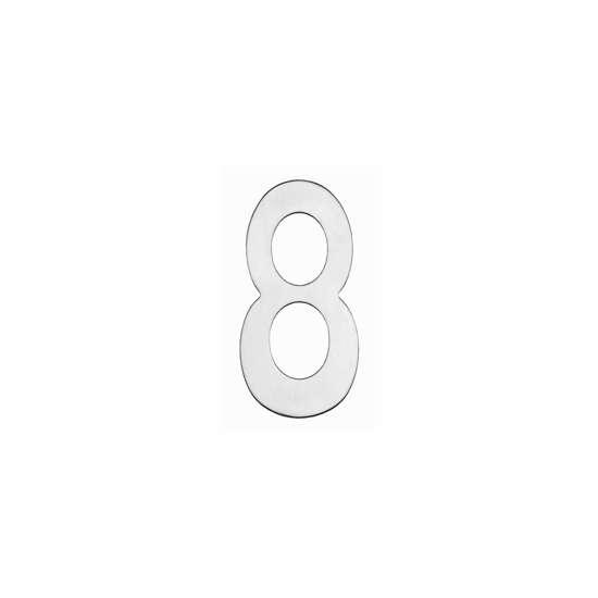 Afbeelding van Intersteel Huisnummer 8 150 mm roestvaststaal geborsteld