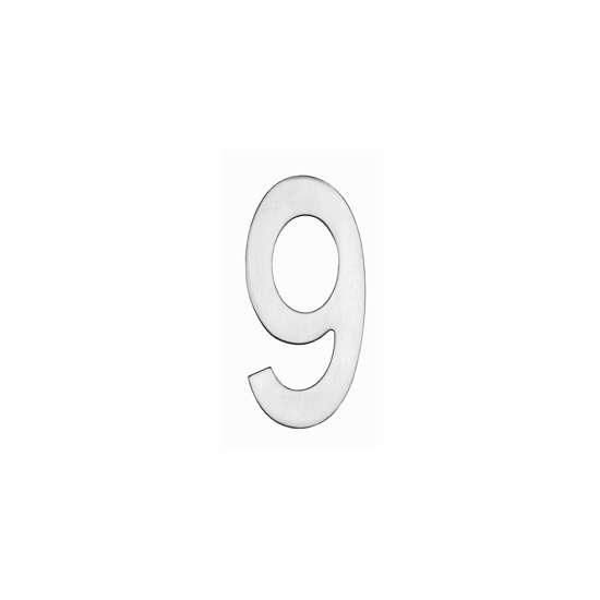 Afbeelding van Intersteel Huisnummer 9 150 mm roestvaststaal geborsteld