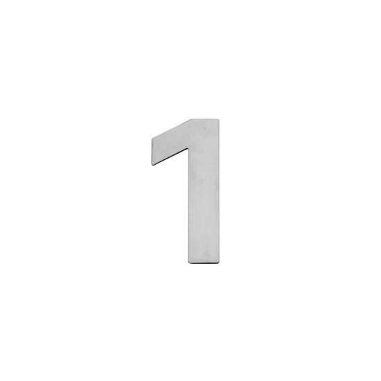 Afbeelding van Intersteel Huisnummer 1 150x2mm roestvaststaal geborsteld