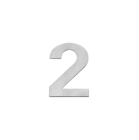 Afbeelding van Intersteel Huisnummer 2 150x2mm roestvaststaal geborsteld