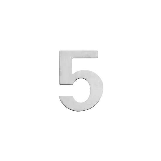 Afbeelding van Intersteel Huisnummer 5 150x2mm roestvaststaal geborsteld