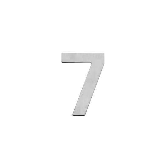 Afbeelding van Intersteel Huisnummer 7 150x2mm roestvaststaal geborsteld