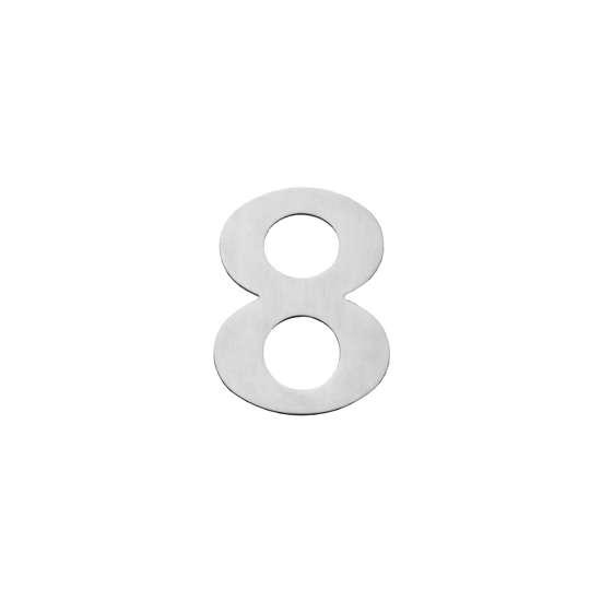 Afbeelding van Intersteel Huisnummer 8 150x2mm roestvaststaal geborsteld