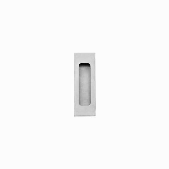 Afbeelding van Intersteel Schuifdeurkom rechthoek 120 x 40 mm blind roestvaststaal geborsteld roestvaststaal geborsteld