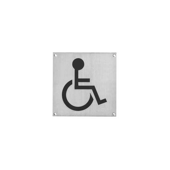 Afbeelding van Intersteel Pictogram toilet mindervalide groot roestvaststaal geborsteld