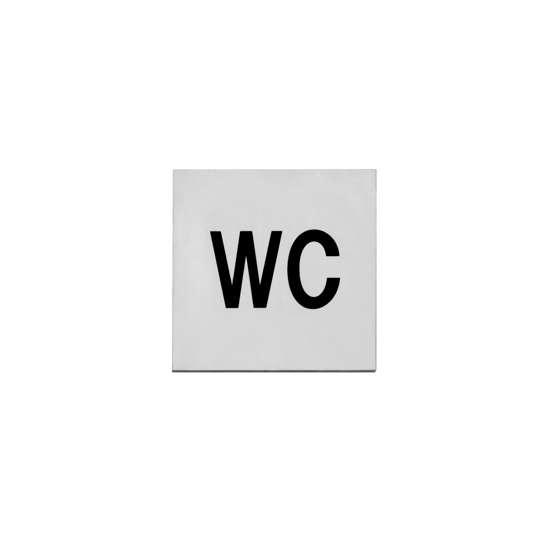 Afbeelding van Intersteel Pictogram toilet zelfklevend vierkant roestvaststaal geborsteld