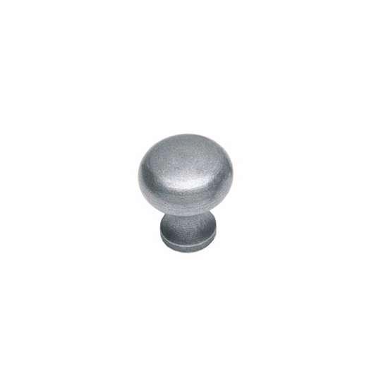 Afbeelding van Intersteel Meubelknop Paddenstoel ø 30 mm smeedijzer grijs