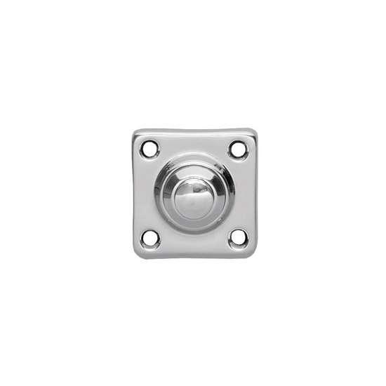 Afbeelding van Intersteel Deurbel vierkant klein chroom