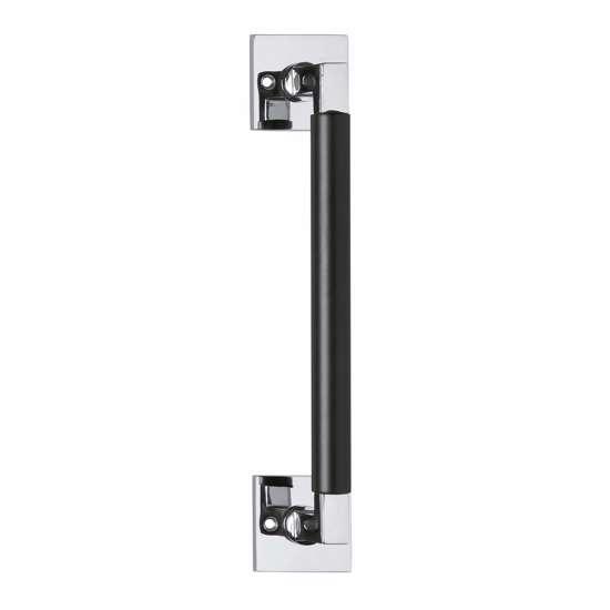 Afbeelding van Intersteel Deurgreep Bau-Stil 250 mm vierkant rozet chroom/mat zwart