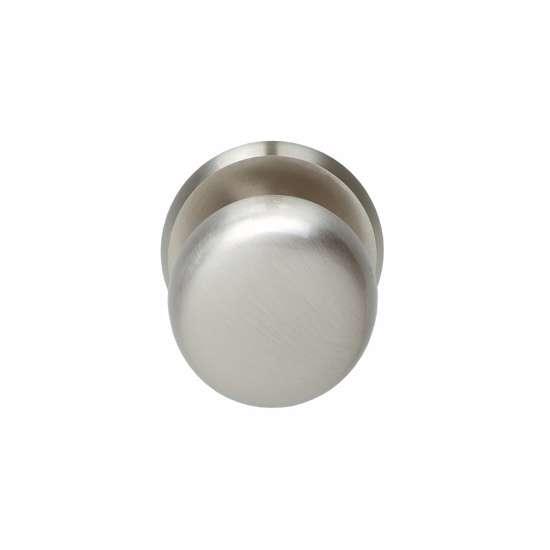 Afbeelding van Intersteel Voordeurknop zwaar rond nikkel mat