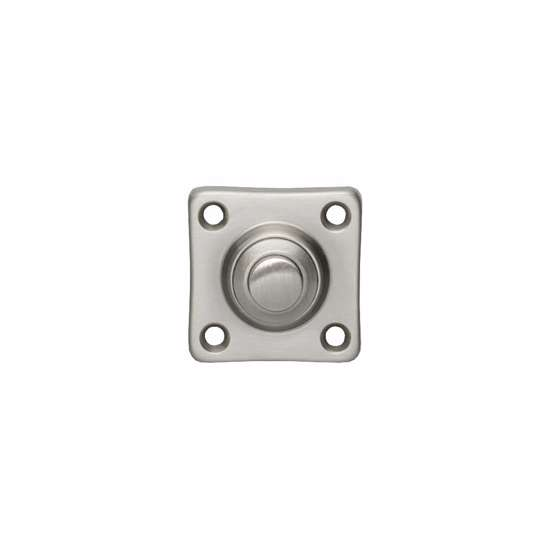 Afbeelding van Intersteel Deurbel vierkant klein nikkel mat