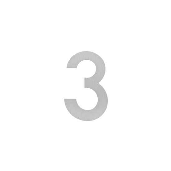 Afbeelding van Intersteel Huisnummer 3 200 mm roestvaststaal geborsteld