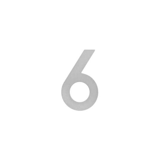 Afbeelding van Intersteel Huisnummer 6 200 mm roestvaststaal geborsteld