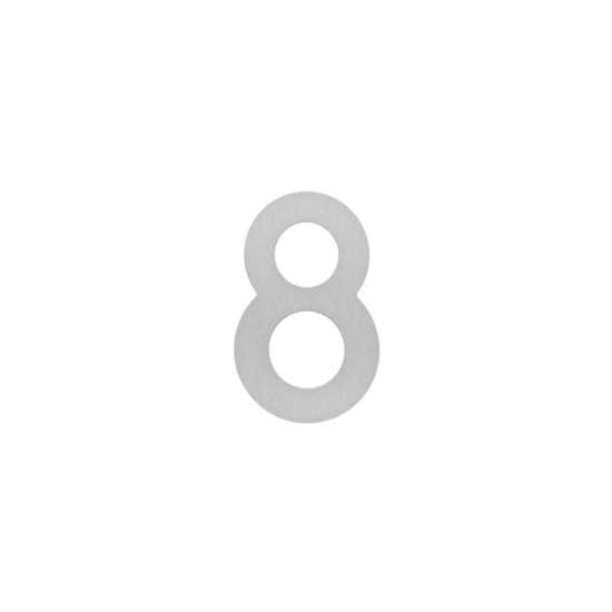Afbeelding van Intersteel Huisnummer 8 200 mm roestvaststaal geborsteld