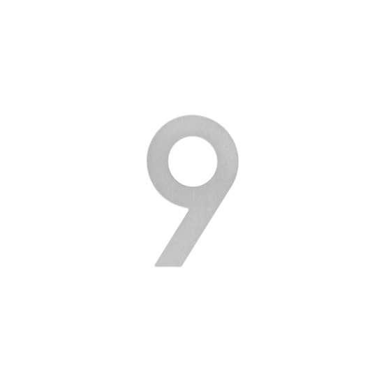 Afbeelding van Intersteel Huisnummer 9 200 mm roestvaststaal geborsteld