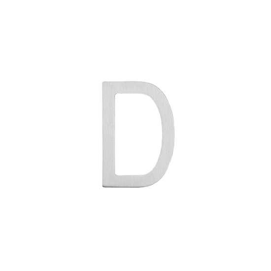 Afbeelding van Intersteel Huisletter D 100 mm roestvaststaal geborsteld
