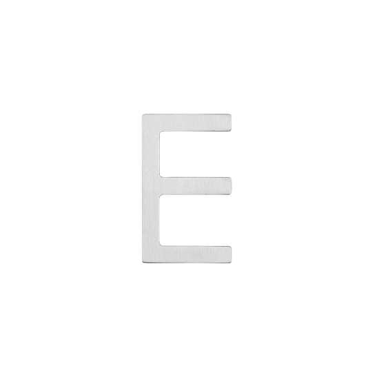 Afbeelding van Intersteel Huisletter E 100 mm roestvaststaal geborsteld