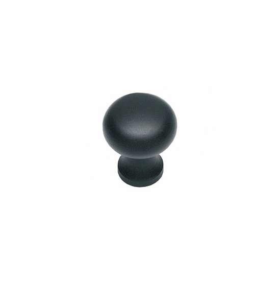 Afbeelding van Intersteel Meubelknop ø 25 smeedijzer zwart