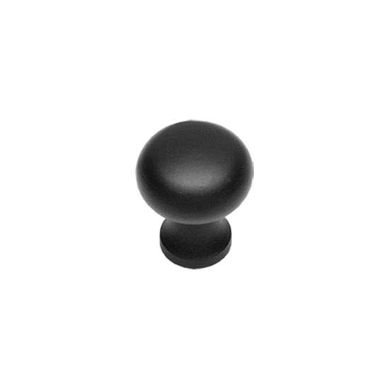 Afbeelding van Intersteel Meubelknop Paddenstoel ø 30 mm smeedijzer zwart