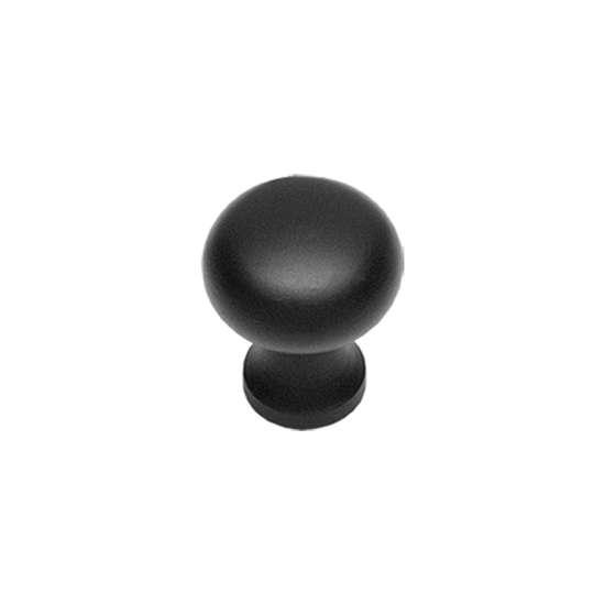 Afbeelding van Intersteel Meubelknop ø 35 mm smeedijzer zwart