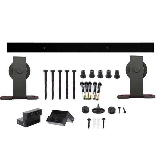 Afbeelding van Intersteel Schuifdeursysteem Basic Top mat zwart