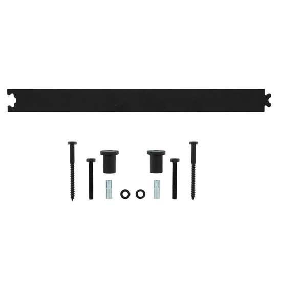 Afbeelding van Intersteel Schuifdeursysteem – tussenrail 45 cm mat zwart